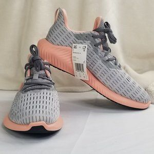 Adidas Womens Alphaboost Gray Running Shoes Sz 9.5